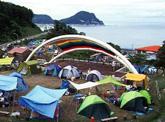 日本海を見下ろす丘
